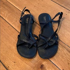 Black strappy sandals by Born, size 7.